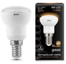 <b>Лампа Gauss</b> LED <b>Reflector 106001104</b> R39 4W E14 3000K купить ...