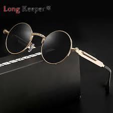 <b>Long Keeper</b> Metal Round <b>Steampunk</b> Sunglasses Men Women ...