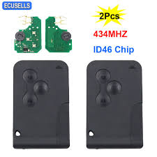 <b>2Pcs</b>/<b>Lot</b> 3 Button Remote <b>Car</b> Key 434Mhz ID46 PCF7947 Chip for ...