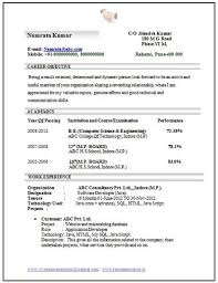 Resume Samples For Freshers Btech Ece Resume Format For Freshers