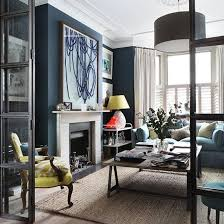 navy blue drawing room how to decorate with blue homes gardens housetohome blue living room ideas