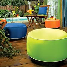 inflatable outdoor ottomans  the green head