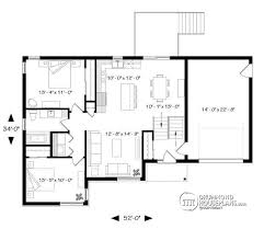 House plan W  BIG detail from DrummondHousePlans com st level One story split entry affordable house plan   attached garage  bedrooms