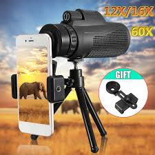 <b>40X60 HD Zoom</b> Monocular Telescope Outdoor Travel Hiking ...