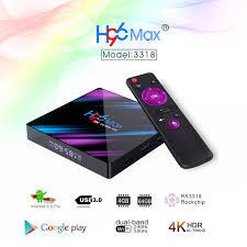 2020 <b>H96 MAX RK3318</b> Smart <b>TV</b> Box Android 9 9.0 4GB 32GB ...
