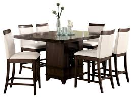high dining table storage