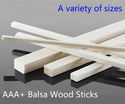 aaa balsa wood sticks strips 500mm long 10 20mm wideth 10 pieces lot for airplane boat model fishing diy free shipping