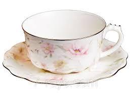 "<b>Чашка</b> с блюдцем <b>400 мл</b>., фарфоровая белая ""Лаура"", Lefard ..."