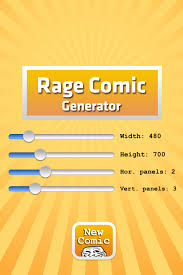 Create your very own Rage Comic on the fly with this generator for iOS via Relatably.com