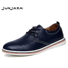 <b>JUNJARM</b> 2019 British Style <b>Men</b> Flats Shoes Handmade Genuine ...