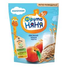 <b>Каша ФрутоНяня молочная овсяная</b> с персиком, с 6 мес., 200 гр ...