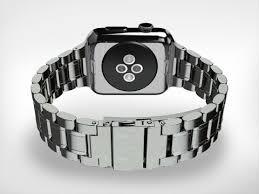 HyperLink <b>316L Stainless Steel</b> Link Bracelet Apple Watch Band ...