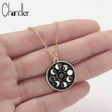 Chandler Summer <b>Stainless Steel Crescent Moon</b> Necklace Fashion ...