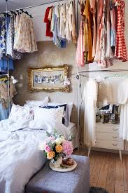 awesome idea high ceilings clothing storage no closet bedroom vintage style blue vintage style bedroom