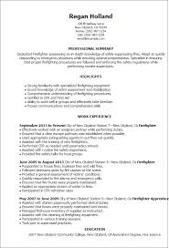 professional firefighter templates to showcase your talent    resume templates  firefighter