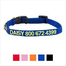 GoTags <b>Personalized Nylon Dog Collar</b>, Blue, X-Small - Chewy.com