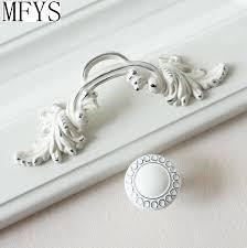 """2.5"""" <b>Shabby Chic Dresser Pulls</b> Handle / Drawer Knob White Silver ..."""