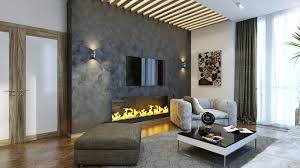 gray walls living room modern