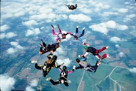 Image result for sky diving  girl