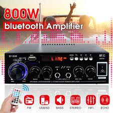 400W+400W <b>HIFI 2CH 800W</b> Audio Power Amplifier 110/220V ...