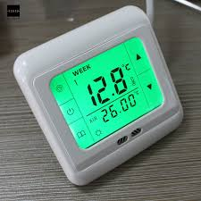thermostatic brand bathroom:  brand new lcd touch screen programmable underfloor room temperature thermostat controller electric unit high quality