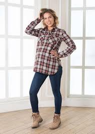 1440122 <b>Рубашка из фланели</b> для беременных Пати бренда ...