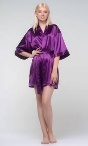 <b>Purple</b> Silky <b>Satin</b> Kimono <b>Robe</b> | <b>Robemart</b> Wholesale Prices
