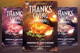 thanksgiving annual party template flyer psd flyershitter com