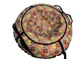 <b>Тюбинг</b> (санки ватрушка) <b>SnowDream Glamour Maxi</b> 100 Пончики