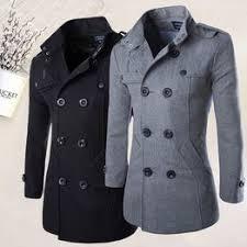 New Fashion Trench Coat Men Winter Woolen Blended Coat ... - Vova