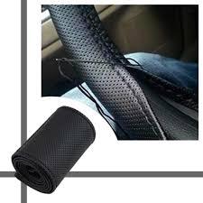 Braid On Steering Wheel <b>Car</b> Steering Wheel Cover With Needles ...