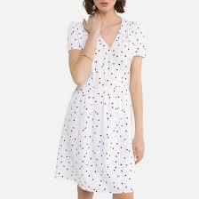 <b>Платье</b> с эффектом запаха, принт божьи коровки рисунок/белый ...