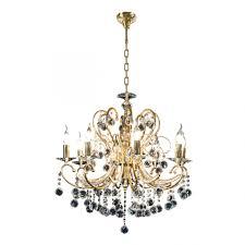 <b>Люстра</b> подвесная <b>Elegante</b> 8х60W E14 24K золото <b>Osgona 708082</b>