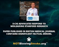 articles not blowing smoke e cig advocates respond to misleading stanford research