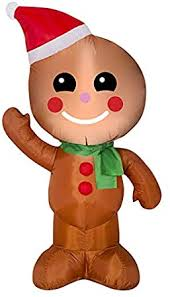 4 Foot Inflatable Airblown Gingerbread Man ... - Amazon.com