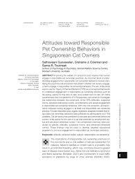 (PDF) Attitudes toward Responsible Pet Ownership Behaviors in ...