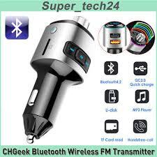 CHGeek Wireless <b>Bluetooth Radio Transmitter Bluetooth</b> FM ...