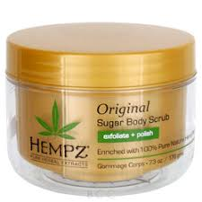 hempz original herbal sugar body scrub скраб для тела увлажняющий 176 гр