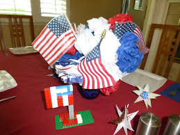 decor red blue room full:  prepossessing dinning room design for independence day with blue red white paper craft in red table