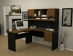 beautiful home office decoration using l shaped desk with hutch home office excellent image of beautiful home office shaped