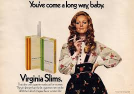 Image result for virginia slims ad you've come