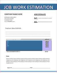 construction estimate templates receipt template 6 work estimate template procedure template sample work estimate template 1 6 work estimate template
