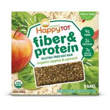 <b>HappyTot Fiber & Protein</b> Organic Apples And Spinach Soft-Baked ...