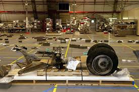 Nose Gear   All of Columbia     s debris was carefully identified and tagged before it was placed on the hangar floor  This is the nose landing gear