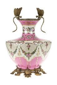 <b>Ваза Стрекозы ГЛАСАР</b> 31G1973, цвет розовый, белый, золотой ...