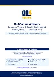 goventure bulletin venture growth equity market report europe d