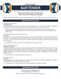 bartender resume format  bartender resume template  sample    sample bartender resume examples
