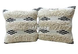 <b>2 PCs Shaggy</b> Pillowcase Fur Striped Design <b>Cushion</b> Cover 100 ...