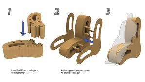 curvate cardboard chair by mark schnitzer cardboard furniture design