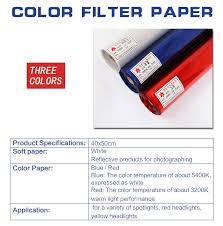 "Meking <b>Professional 40*50cm</b> 15.7*19.6"" <b>Paper</b> Gels Color Filter for ..."